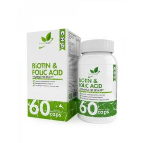 Биотин + фолиевая кислота (Biotin & Folic Acid NaturalSupp), 60 капсул
