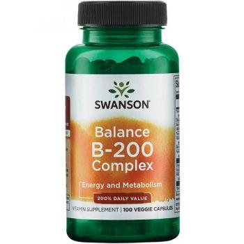 Balance B-200 Complex Swanson (витамины B) - 100 вег.капсул