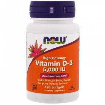 Vitamin D-3 5000 от NOW ( 240 caps)